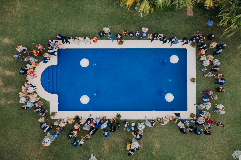 The Love Hunters - aerial pool shot