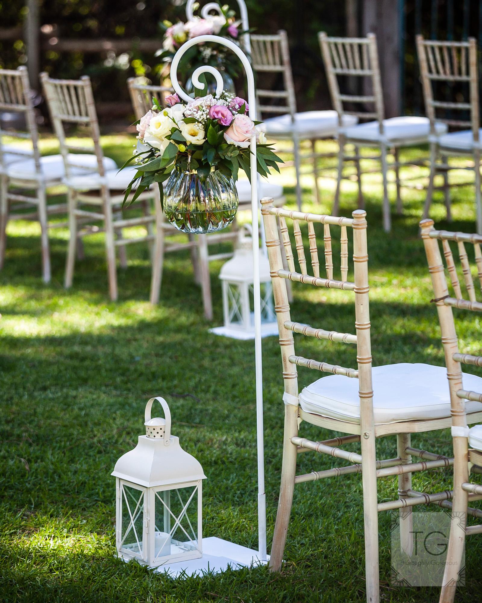 Ceremony decor, villa wedding