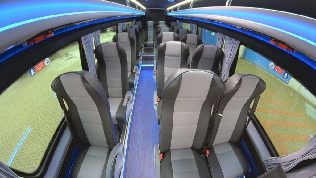 Luxury mini bus interior