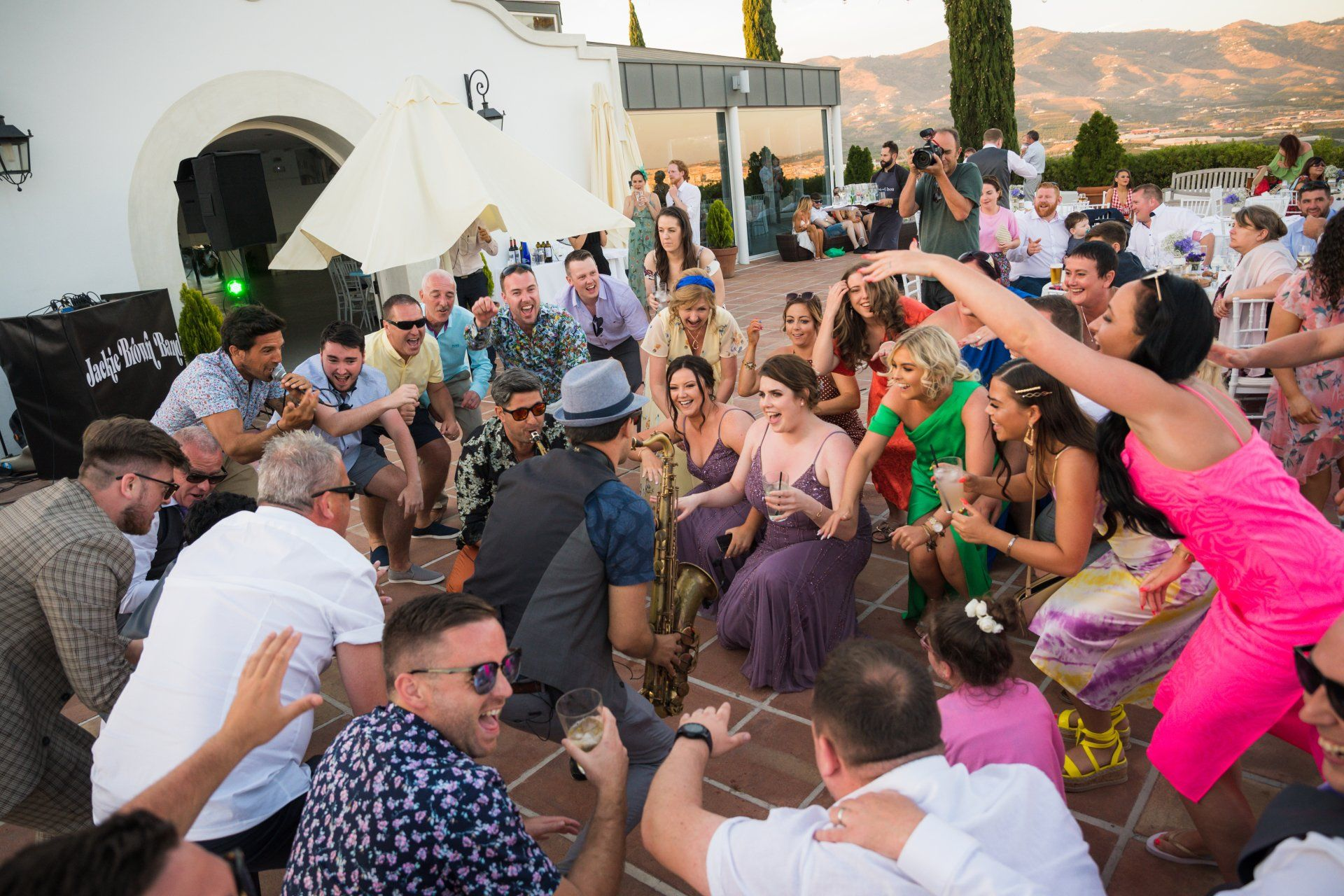 Wedding band in Spain.