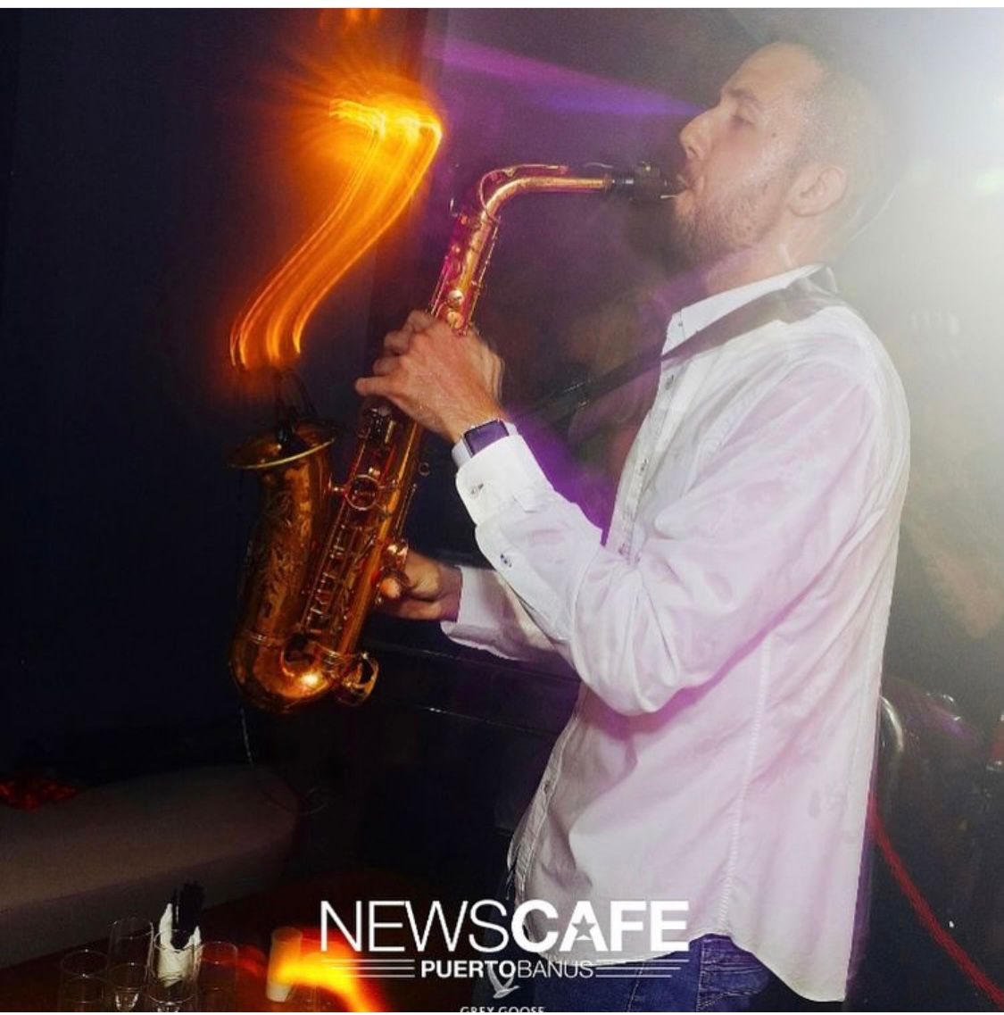 Adrian Jimenez Diaz,Wedding Saxophonist based in Malaga, Spain