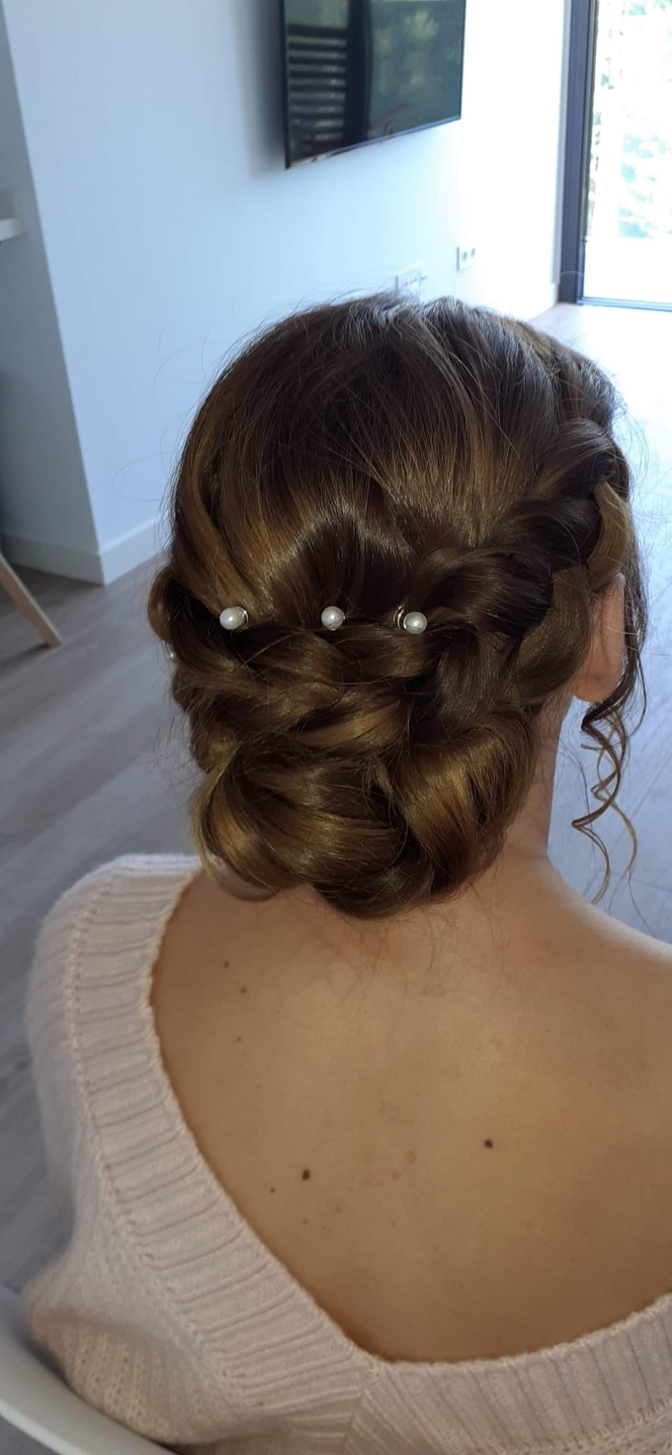Beautiful bridal hair in Spain.