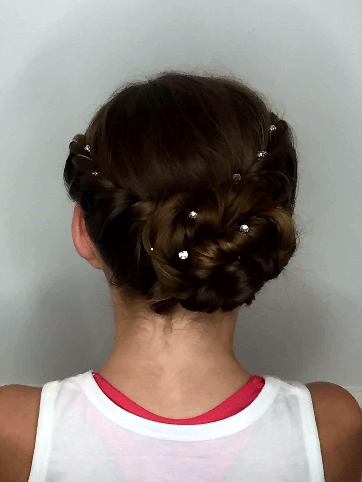 Elegant hair up bridal look.