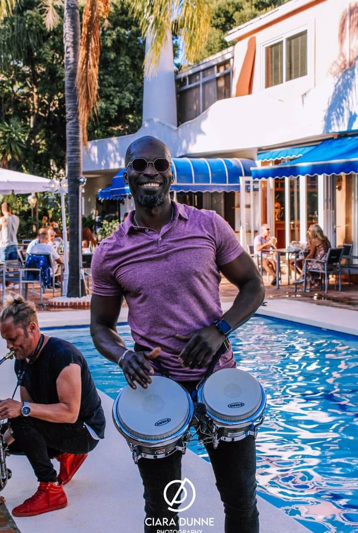 Alex, popular Bongo player, Spain