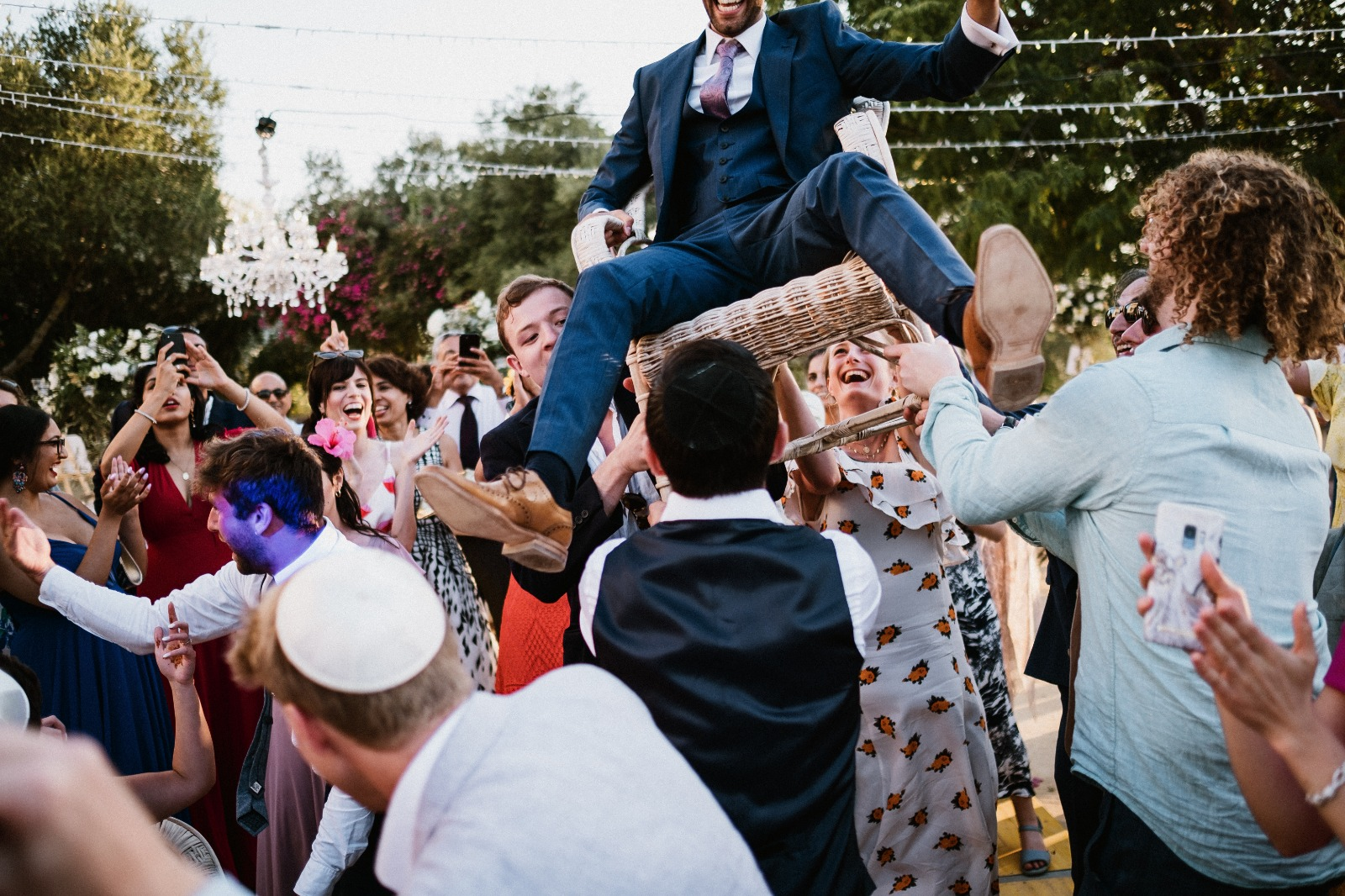 Jewish celebratory dance called the horah
