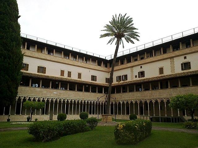 The Medieval Franciscan church has a splendid square courtyard,