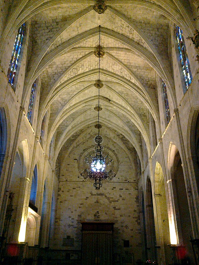 Interior view of the stunning Sant Francesc church, a hidden gem in Palma old town.