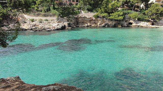 Hidden coves near Cliff top church wedding Mallorca